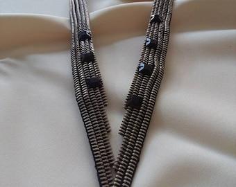 Zipper Necklace -Unique Jewelry -Zipper Jewelry