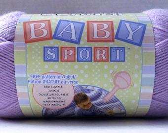 Bernat Baby Sport Yarn ~ Jumbo Ball ~ Light Lilac #43320 ~ 300 grams/ 10.5 Ounces ~ 984 meters/1077 yards