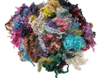 2oz , Assortment of Mix breeds of wool locks  , color:   Mix , MP-1