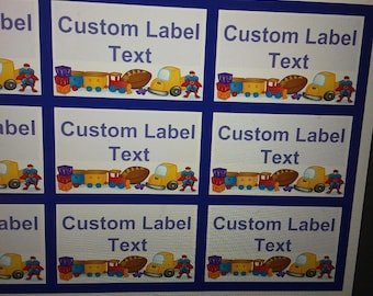 Editable downloadable Toy Labels