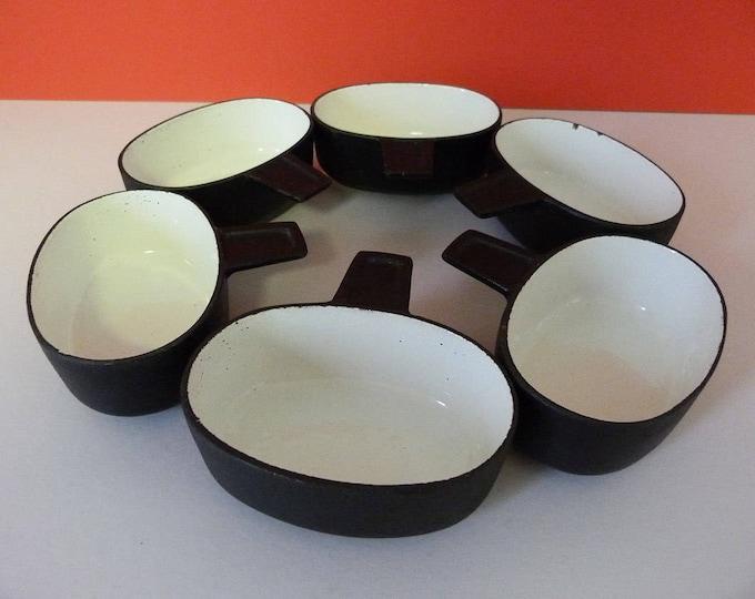 Ramekins Digsmeg Cast iron and Enamel Fondue dishes Vintage MCM