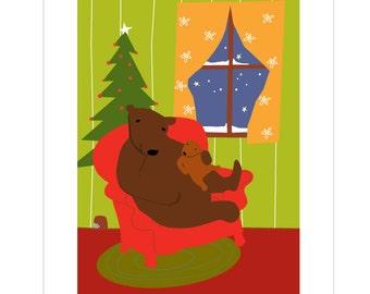 Christmas Cards bear family greeting cards