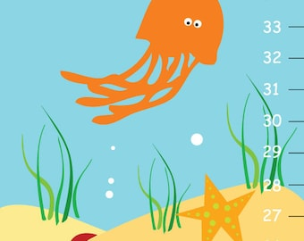 Personalized Ocean Sea Life Growth Chart