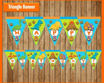 Dinosaurs Banner instant download, Printable Dinosaur party Banner, Dinosaur Banner