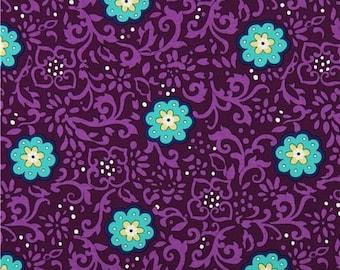 Michael Miller Fabrics - Ring Around the Posy Plum - SG6234-PLUM-D