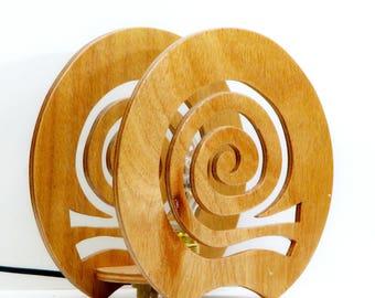 """Wooden Table Luminaire """"snail"""""""