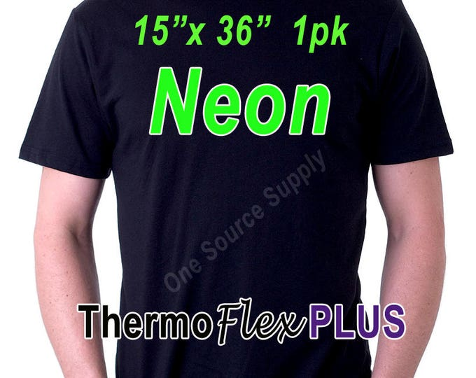 "15""x 36"" / 1-Sheet continuous / ThermoFlex Plus Neon - Heat Transfer Vinyl - HTV"