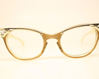 Unused Aluminum Combination Vintage Cat Eye Glasses