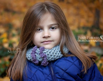 Crochet PATTERN - Crochet Cowl Pattern - Crochet Headband Pattern - Crochet Scarf Pattern - Crochet Hat Pattern - Includes 3 Sizes- PDF 395