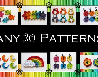 Your Choice of 30 Crochet Patterns (PDF)