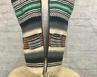 Vintage Saddle Blanket Handmade Vest