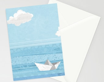 Paper Sailing A6 Greetings Card