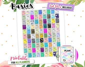 Icon Stickers, Appointment Stickers, Planner Icon, Printable Stickers, Basic Planner Stickers, Mambi Stickers, EC Stickers