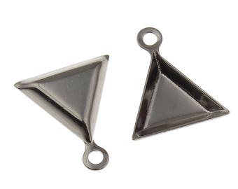 5 pairs x Stainless Steel Triangle Cabochon Setting