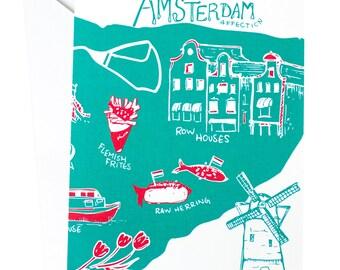 Amsterdam Affection Card, Amsterdam, Europe, Travel, Adventure Cards, Travel Cards, Wanderlust