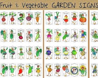 Marqueurs de jardin choisissent 3 oeuvre végétale Fun humour plante nom aluminium signe Illustrations