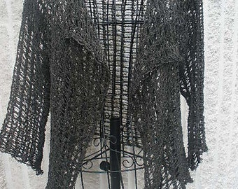 Tunisian Lace Jacket Crochet Pattern