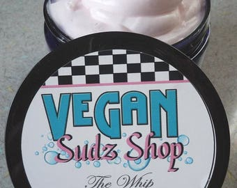 4 oz Whipped Face Lotion - NATURAL COCONUT SCENT - Vegan balm salve fluffy