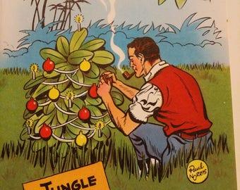 Jungle Jim vintage Christmas card