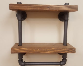Pipe Towel Bar Shelf
