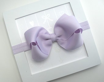 Baby Headband, Lavender Hair Bow Headband, Infant Headband, Newborn Headband, Baby Girl Headband