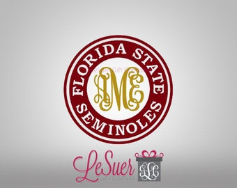 Florida State Monogram SVG Cut File