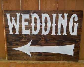 Wedding this way sign | Etsy