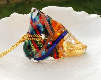 Venetian Murano Glass Statement Necklace