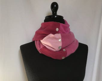 Cashmere Infinity Scarf made from pink and rose Sweaters