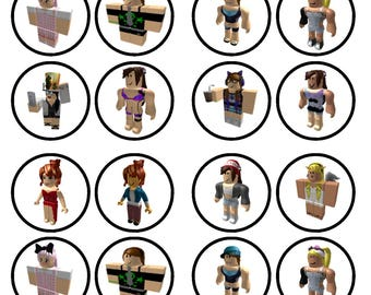 Roblox Girl Character #2 Edible Wafer Rice Paper Cake Cupcake Toppers x 24 PRECUT