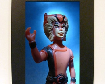 "Framed ThunderCats Wilykat Toy Photograph 5"" x 7"""