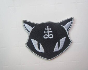 Lucipurr Patch – Cat Patch – Hail Lucipurr – Black Cat -  Iron on patch.