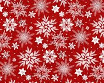 Henry Glass & Co 'Snowflake' Fabric By The Yard; Holiday Homecoming by Jan Shade Beach, 6763-88