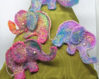 multi coloured elephant Brooch