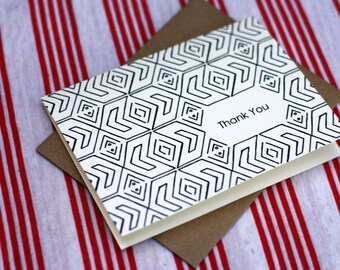 Tribal Notes #11 - A2 Printable Thank You Card (One Design)
