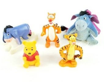 Winnie the Pooh Toy Lot | Eeyore Keychain | Winnie the Pooh Cake Topper | Winnie the Pooh Birthday | Pooh Bear | Pooh Party | Tigger Toy