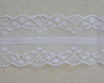 Beautiful ribbon lace thin and delicate white - 1 m