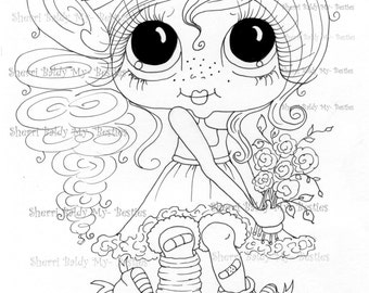 INSTANT DOWNLOAD Digital Digi Stamps Big Eye Big Head Dolls Digi  My - Besties  IMG981 By Sherri Baldy