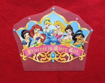 Princess Iron-On Heat Transfer ~~Decorate all the clothing ,bags or other fabrics. ~~