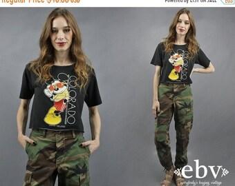 Mickey cultures Top Vintage T Shirt 80 s Crop Top années 1980 Top Colorado T Shirt Colorado haut Mickey Mouse des années 1980 Mickey Top années 80 Mickey Top S M