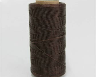 1mm Waxed Polyester Cord 160m Dark Brown