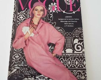 Rare Vintage 1961 Vogue Magazine Fashion Beauty