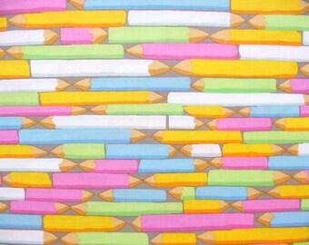 Kaffe Fassett Pencils Pastel - 1/2 yard cotton quilt fabric