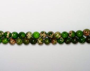 SALE! Aqua terra jasper 4mm round beads 4mm stone beads green stone beads semiprecious stone semiprecious beads jasper beads
