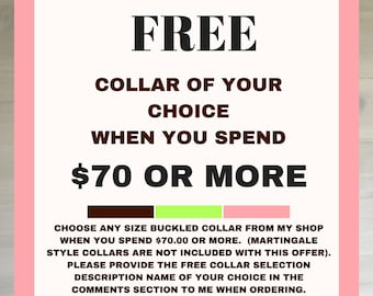 Free Collar for your Dog or Cat