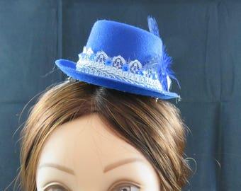 Royal Blue Mini Top Hst Fascinator