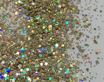 Holo Multi Champas - 5g solvent resistant nail glitter