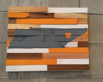 Ready to Ship - College Wall Hanging - University of Tennessee