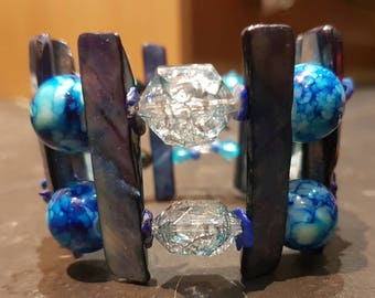 Memory wire cuff bracelet