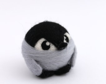 Needle Felted Baby Penguin Baby Penguin Ornament